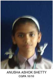 Toppers of Arya Gurukul School - Anusha