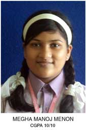 Toppers of Arya Gurukul School in Kalyan - Megha
