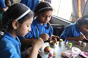 Diya Painting at Arya Gurukul School